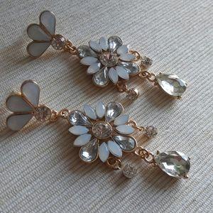 Art Deco Inspired Drop Earrings